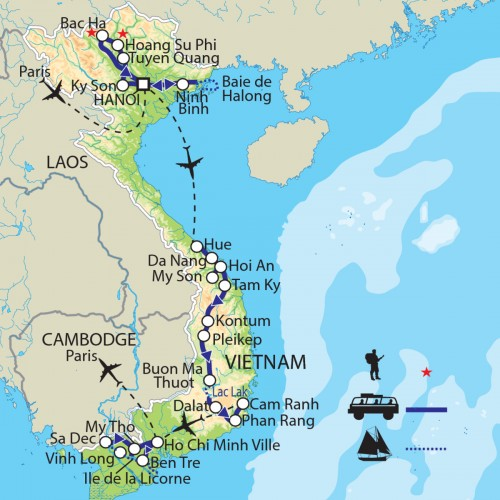 Carte : Vietnam - La grande traversée : un florilège de minorités