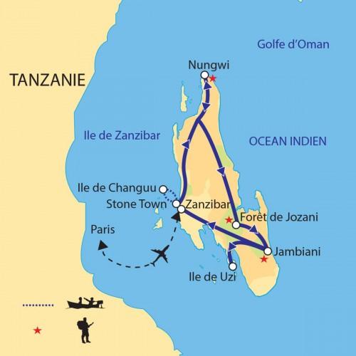 Carte : Zanzibar - L'île aux épices